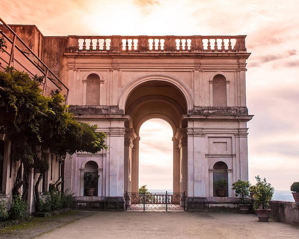Italy Poster featuring the photograph Tivoli Arch by Karen Regan