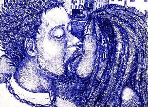 Maliksart Poster featuring the drawing To-get Her by Malik Seneferu