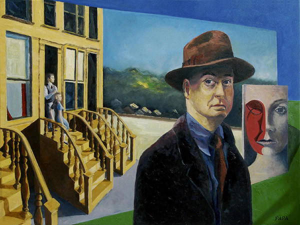 Hopper Poster featuring the painting To Hopper From Papa by Ralph Papa