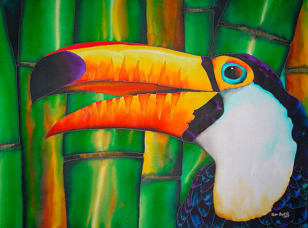 Toucan Painting Poster featuring the painting Toco Toucan by Daniel Jean-Baptiste