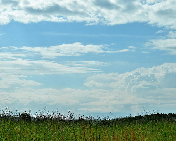 Clouds Poster featuring the photograph Todays Art 1405 by Lawrence Hess