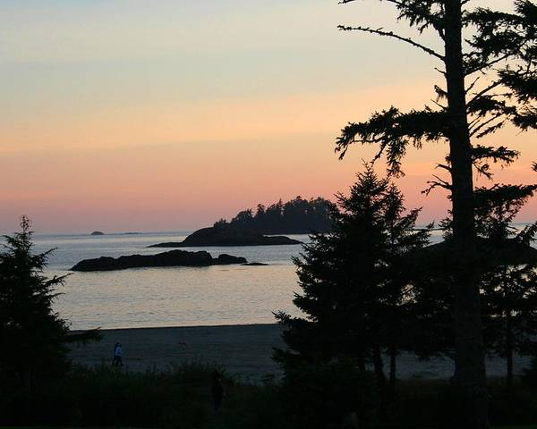 Sunset Poster featuring the photograph Tofino Sunset II Ss 1027 by Mary Gaines
