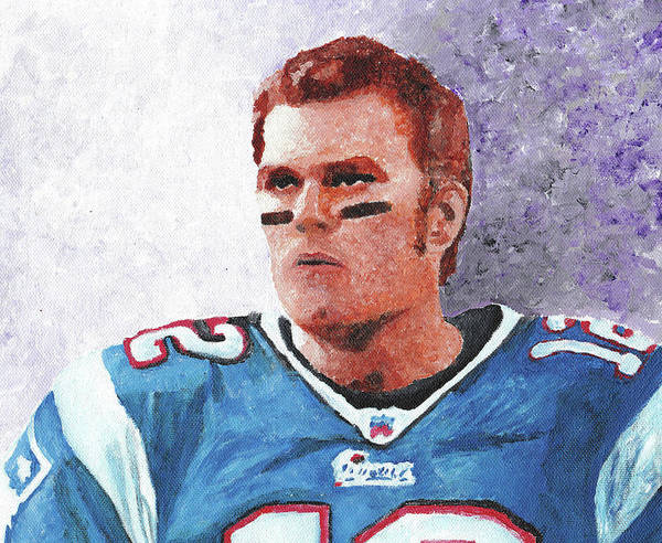 Tom Poster featuring the painting Tom Brady by William Bowers
