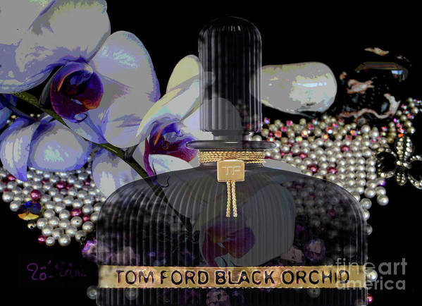Tom Ford Black Orchid Poster featuring the digital art Tom Ford Black Orchid by To-Tam Gerwe