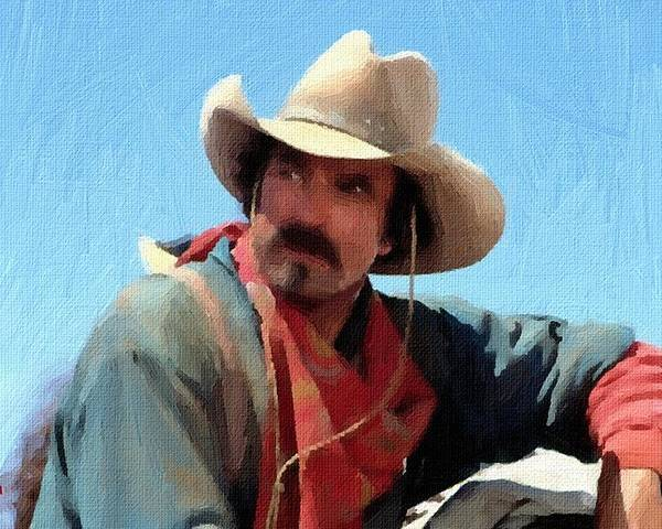 Old West Cowboy Movies Poster featuring the painting Tom Selleck Quigley  Down Under Oil Painting by f90f1ae4445f
