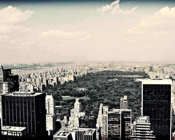 New York Poster featuring the photograph Top Of The Rock by Ariane Moshayedi