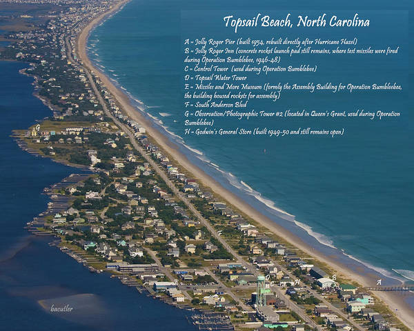 Topsail Poster featuring the photograph Topsail Beach by Betsy Knapp
