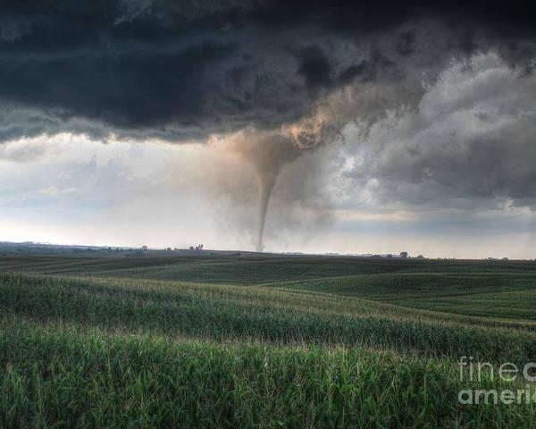 Tornado Poster featuring the photograph Tornado by Thomas Danilovich