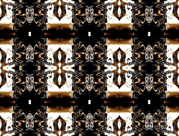 Abstract Pattern Poster featuring the digital art Totheme Brown by Elisabeth Skajem Atter