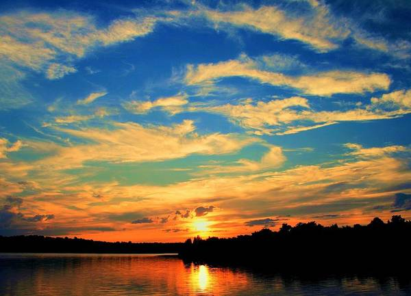 Sunset Poster featuring the photograph Touch The Wind by Mitch Cat