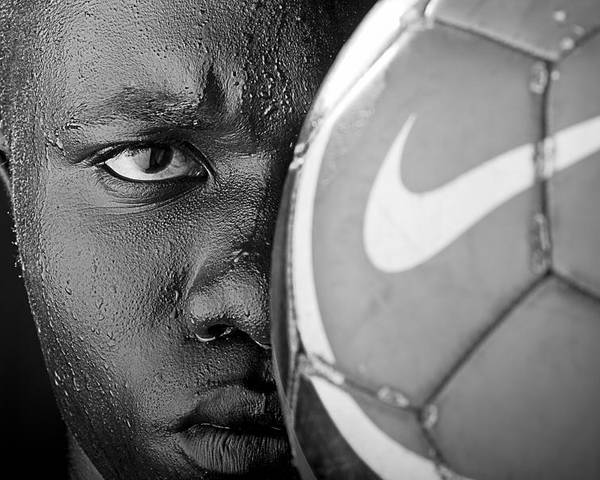 Soccer Poster featuring the photograph Tough Like A Nike Ball by Val Black Russian Tourchin