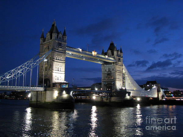 London Poster featuring the photograph Tower Bridge by Amanda Barcon