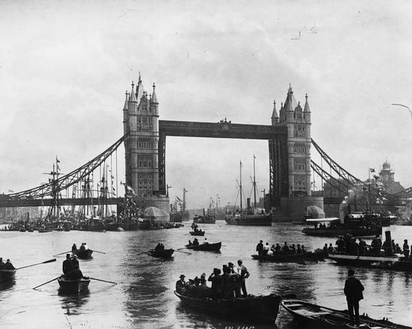 Adult Poster featuring the photograph Tower Bridge by Francis Frith & Co