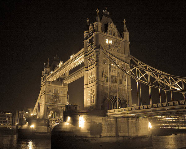 London Poster featuring the photograph Tower Bridge Of London by Joshua Francia