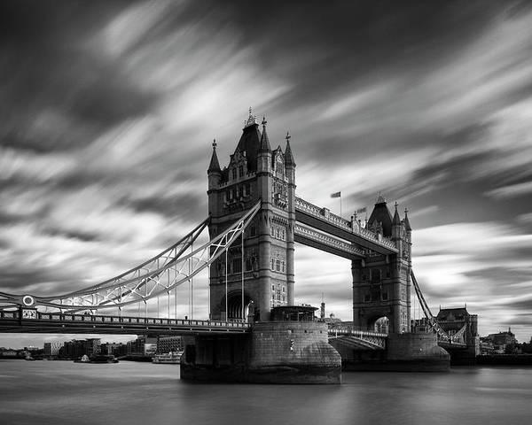 Horizontal Poster featuring the photograph Tower Bridge, River Thames, London, England, Uk by Jason Friend Photography Ltd