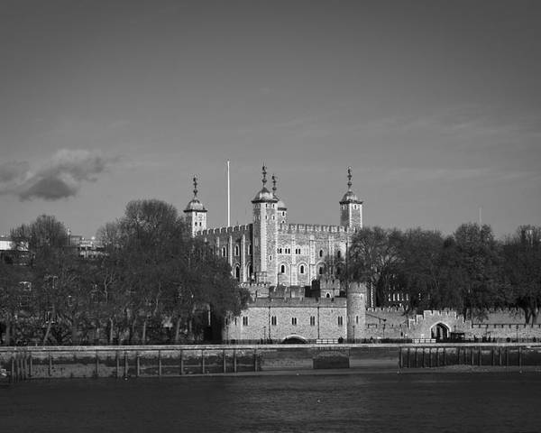 London Poster featuring the photograph Tower Of London Riverside by Gary Eason