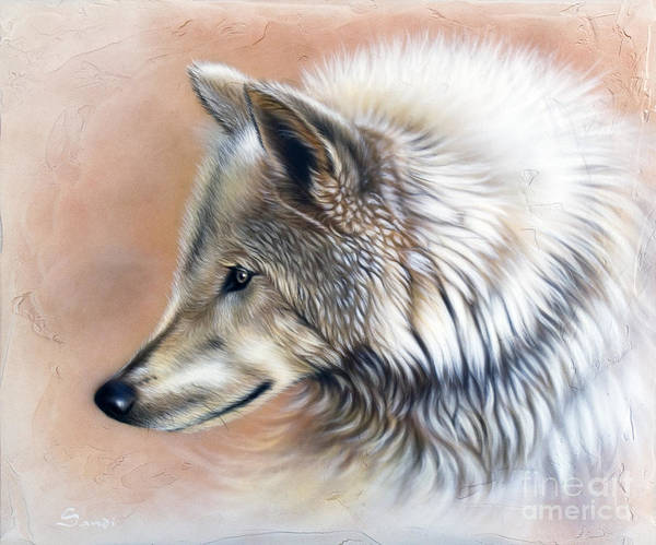 Wolves Poster featuring the painting Trace IIi by Sandi Baker