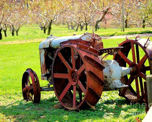 Fall Poster featuring the photograph Tractor by Lisa D'Adamo-Weinstein