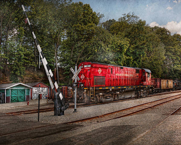Train Poster featuring the photograph Train - Diesel - Look Out For The Locomotive by Mike Savad