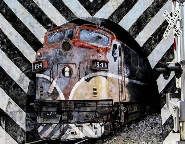 Graffiti Art Poster featuring the photograph Train Mural by Karen Hanley Colbert