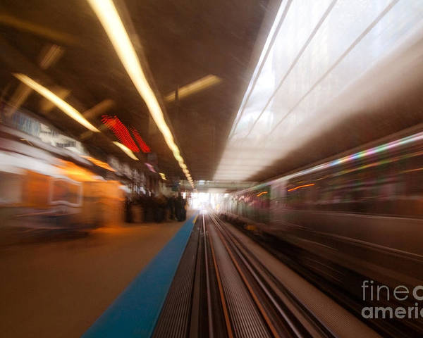 Train Poster featuring the photograph Train Station In Motion by Sven Brogren