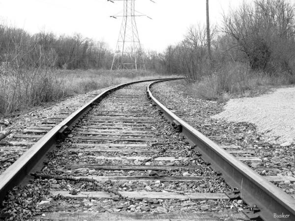 Nature Poster featuring the photograph Train Tracks by Josh Busker