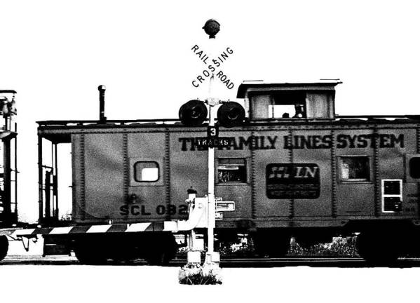 Black And White Poster featuring the photograph Train Tryptic C Of C by Richard Gerken