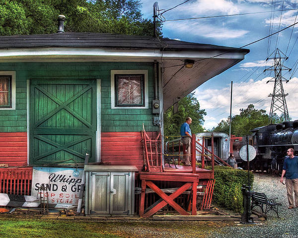 Savad Poster featuring the photograph Train - Yard - The Train Station by Mike Savad