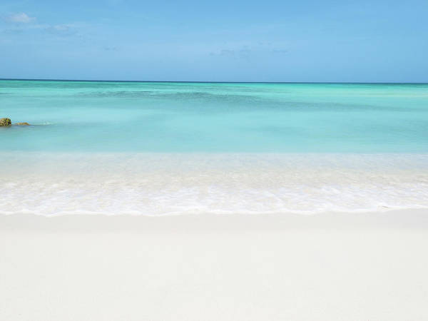 Horizontal Poster featuring the photograph Tranquil Beach by William Andrew