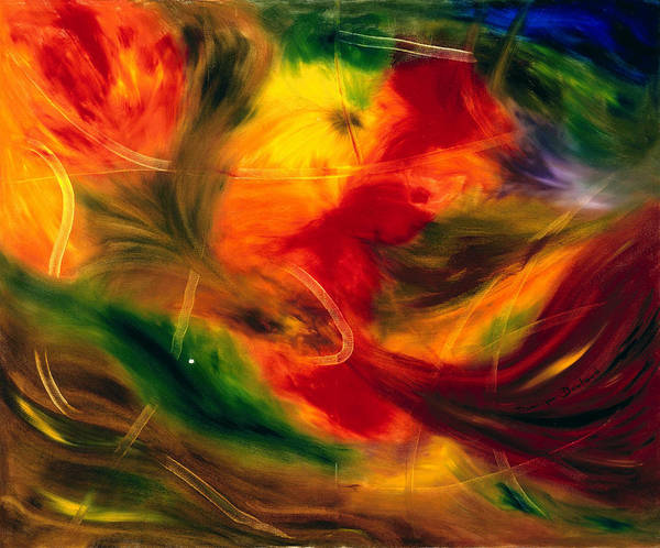 Abstract Poster featuring the painting Transparence De La Vie by Dominique Boutaud