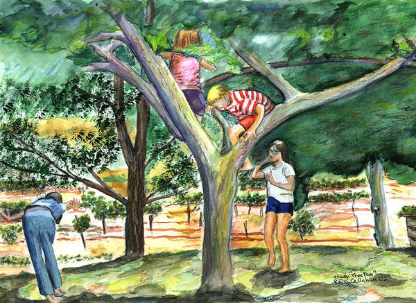 Kevin Callahan Poster featuring the painting Tree Fun Study by Kevin Callahan