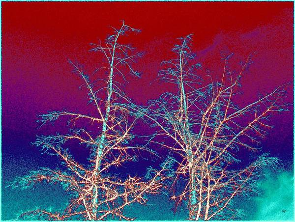 Abstract Poster featuring the digital art Treetops 4 by Will Borden