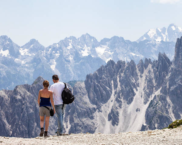 Life Poster featuring the photograph Trekking Together by Alfio Finocchiaro