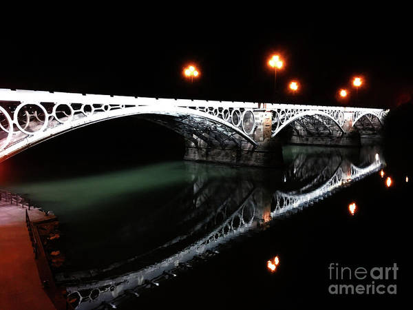 Seville Poster featuring the photograph Triana Bridge by HELGE Art Gallery