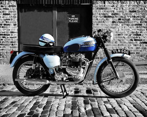 Triumph Bonneville Poster featuring the photograph Triumph Bonneville T120 by Mark Rogan