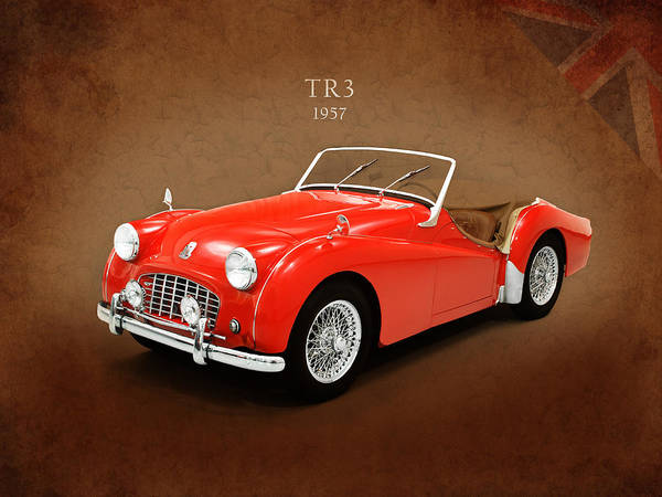 Triumph Tr3 1957 Poster By Mark Rogan