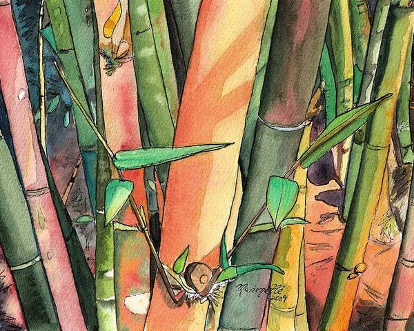 Tropical Bamboo Poster featuring the painting Tropical Bamboo by Marionette Taboniar