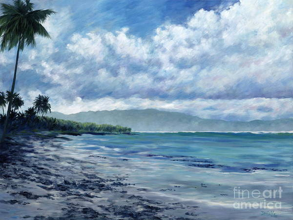 Seascape Poster featuring the painting Tropical Rain by Danielle Perry