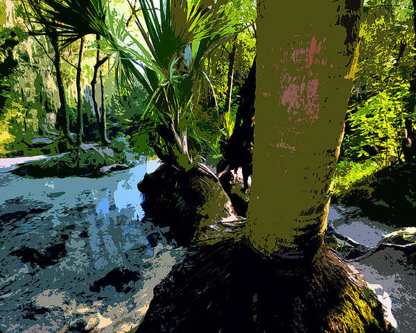 Tropical Poster featuring the painting Tropical Spring by David Lee Thompson
