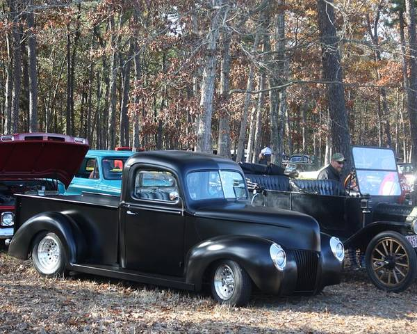 Truck Poster featuring the photograph Truck And Convertible Parking Only by Kevin Sherf