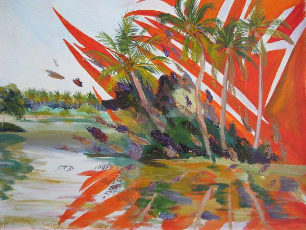 Tsunami Poster featuring the painting Tsunami by Art Nomad Sandra Hansen