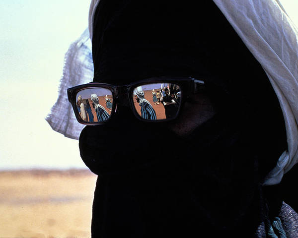 Reflection Poster featuring the photograph Tuareg With Sunglasses by Carl Purcell