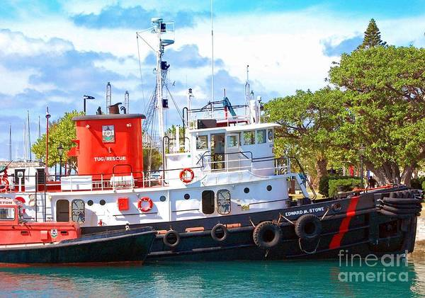 Boat Poster featuring the photograph Tug On It by Debbi Granruth