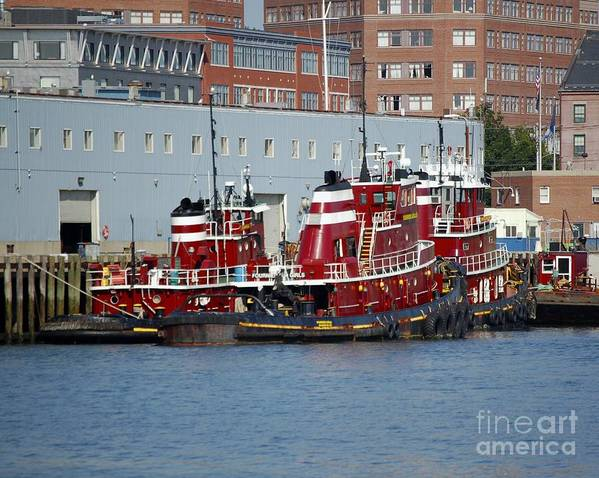 Tug Poster featuring the photograph Tugs At Rest by Faith Harron Boudreau