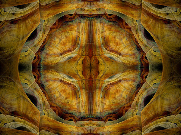 Fractal Poster featuring the digital art Tunnel Of Separation by Amorina Ashton