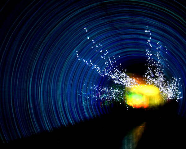 Abstract Poster featuring the photograph Tunnel Vision II by Erika Lesnjak-Wenzel