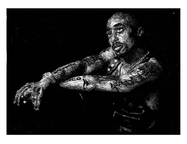 Tupac Poster Featuring The Drawing