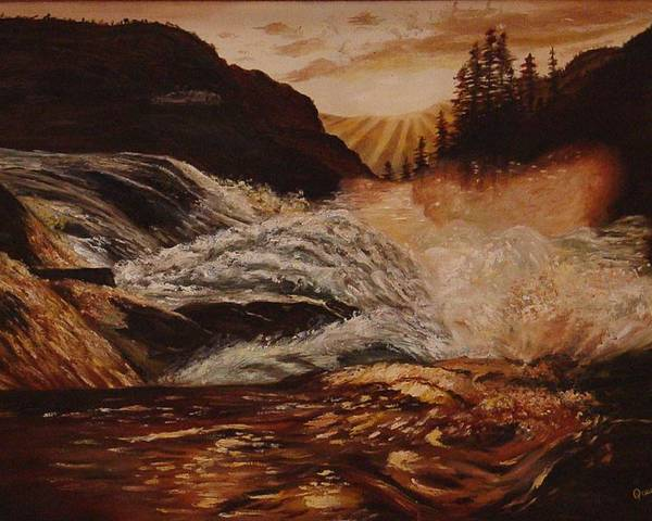 Water Poster featuring the painting Turbulent Waters by Quwatha Valentine