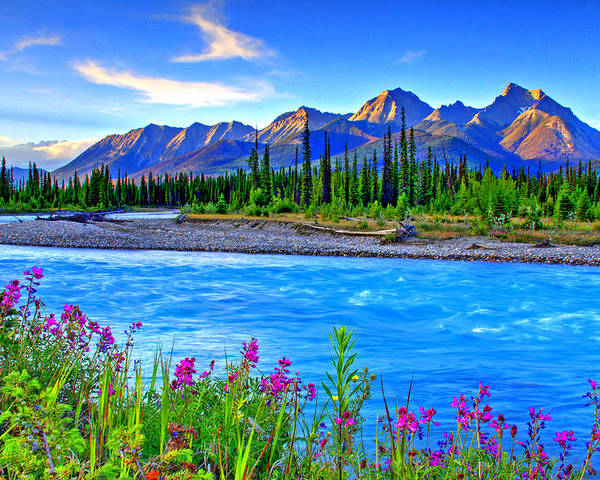 Landscape Poster featuring the photograph Turquoise River by Scott Mahon