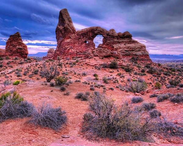 Moab Utah Poster featuring the photograph Turret Arch by Paul Basile